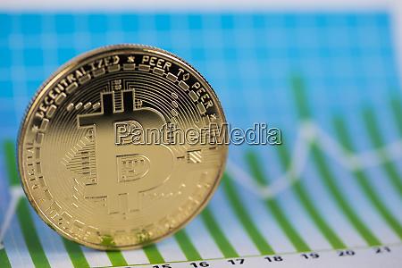 golden bitcoin muenze virtuelles geld finanzkarte