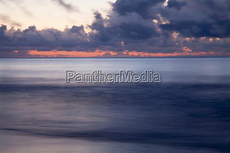 usa georgia tybee island stormy sunrise