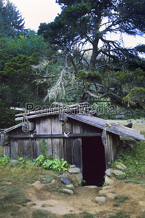 underground cedar plank shelter traditional storage