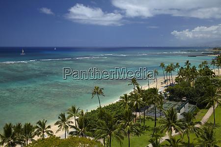 usa hawaii oahu honolulu waikiki fort