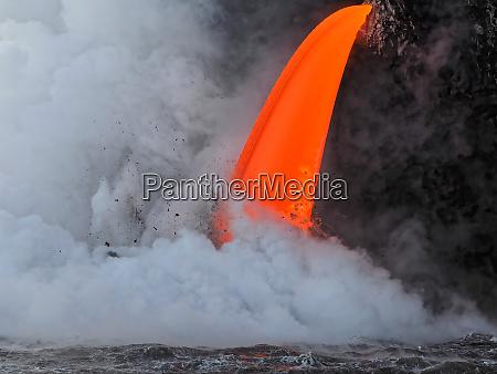 usa hawaii big island lava from