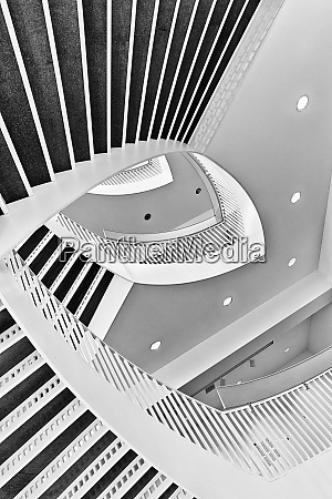 graphic composition of the spiral staircase