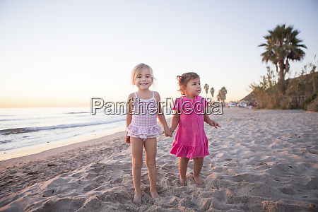 children play together on san onofre