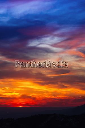 sunset over the san bernardino mountains