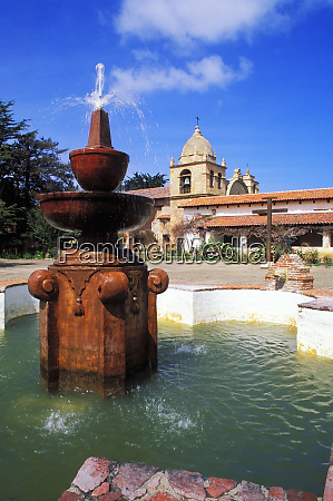 fountain in the main courtyard at