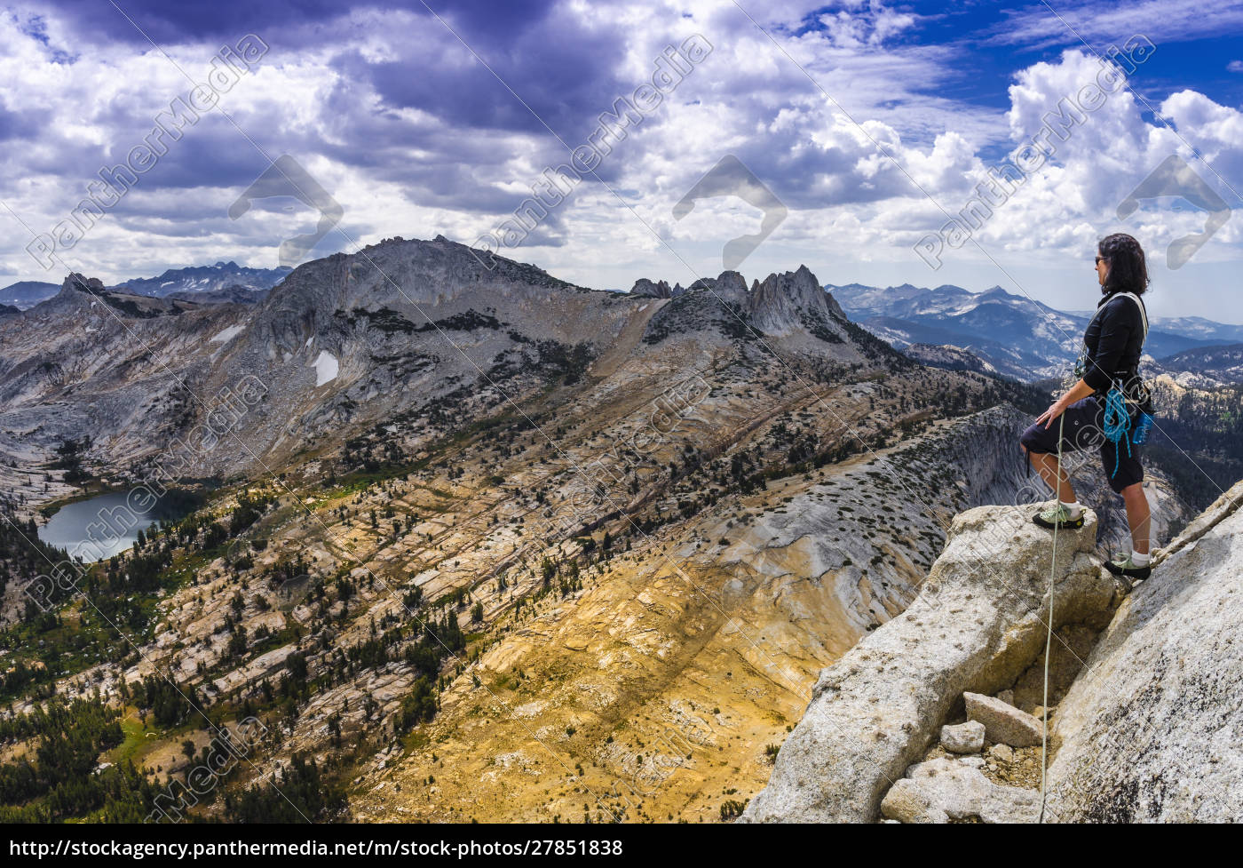 climber, on, cathedral, peak, , tuolumne, meadows - 27851838