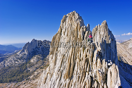 climbers on the classic traverse of