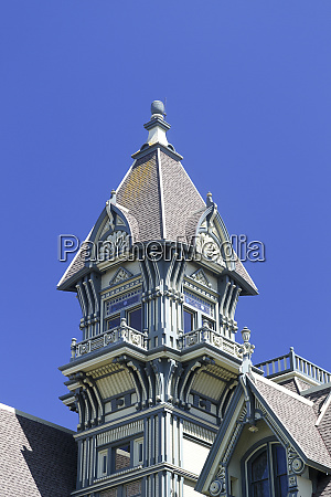 detail of the carson mansion an