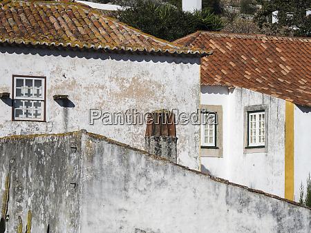 portugal leiria obidos elevated view of