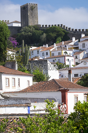 portugal obidos ancient city wall medieval