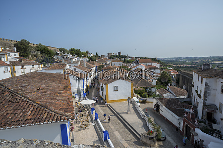 portugal obidos view of main street