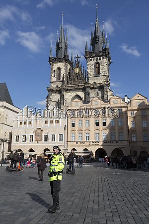 czech republic prague metro policeman in