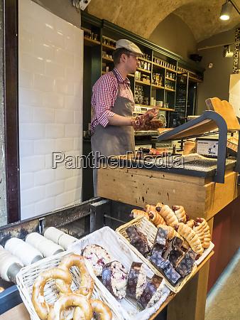 czech republic prague bakery in old