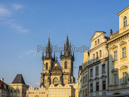 czech republic prague cityscape view on