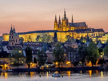 czech republic prague view of the