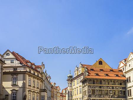 czech republic prague buildings along old