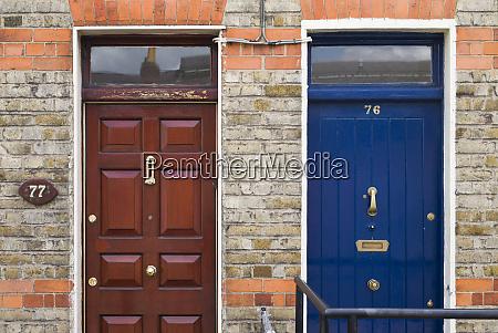 ireland dublin legal quarter door details