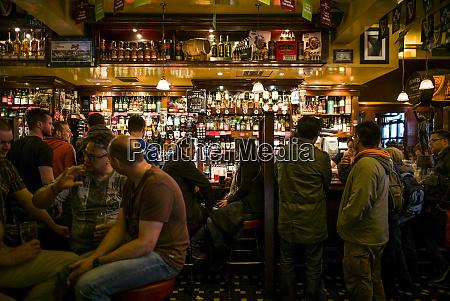 ireland dublin temple bar pub interior