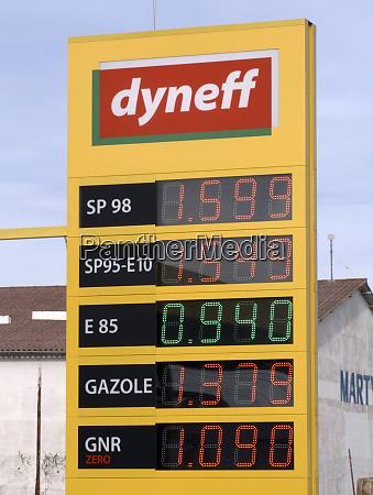 ethanolpumpe tankstelle frankreich