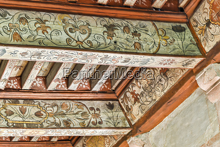 france chateau de cenevieres decorated wooden