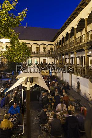 romania bucharest lipscani old town hanul