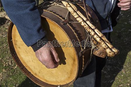 italy sardinia gavoi drum used as