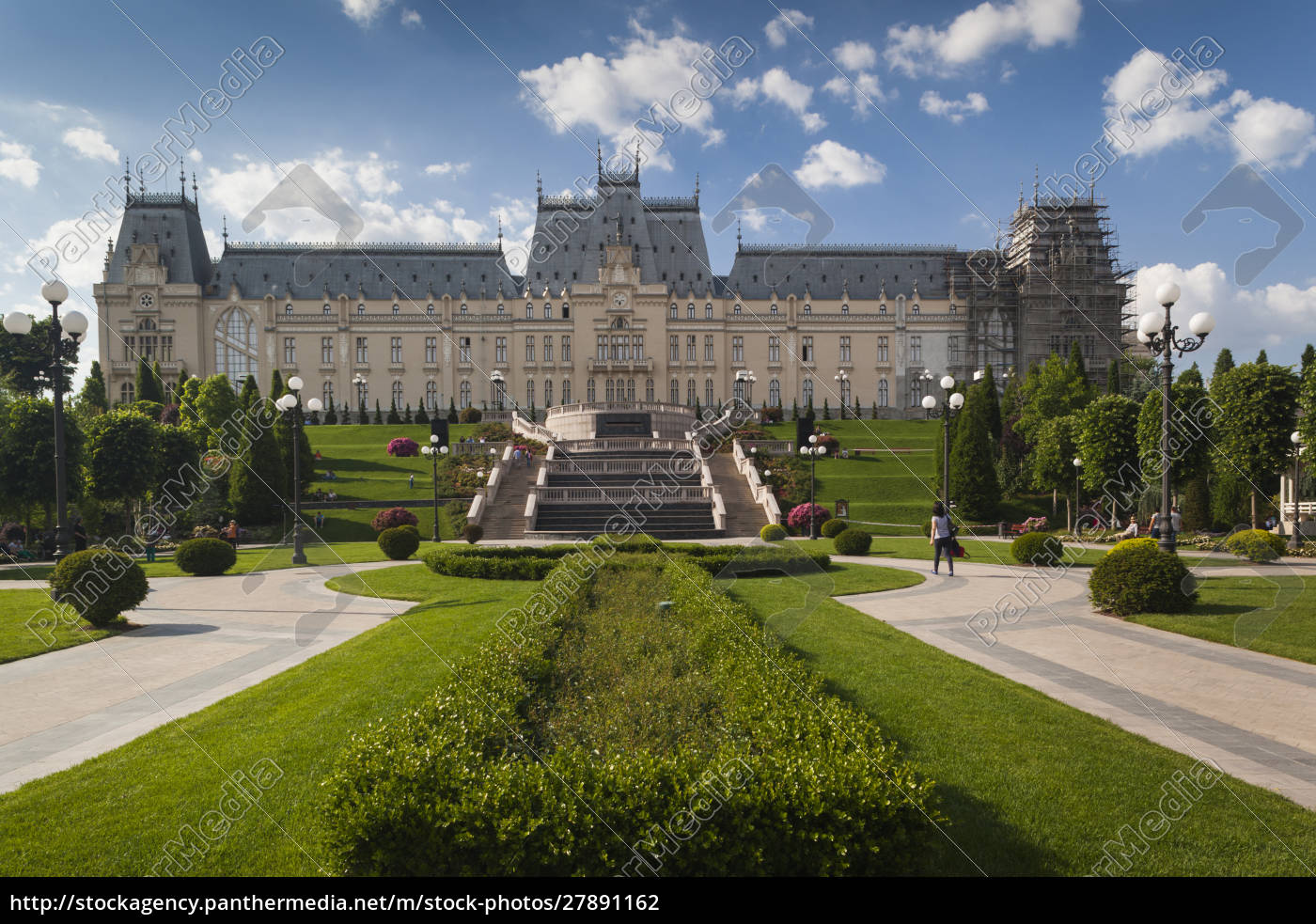 rumänien, moldawien, iasi, kulturpalast, tagsüber - 27891162