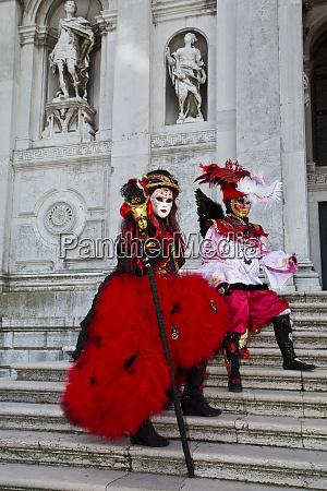 venedig, italien., maske, und, kostüme, im, karneval - 27893990