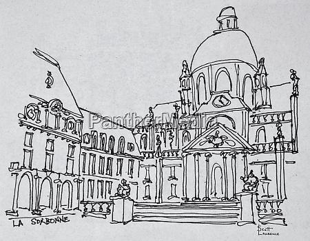 courtyard of la sorbonne university of