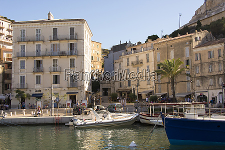 europe france corsica bonifacio marina and