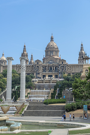 spain barcelona national palace and the