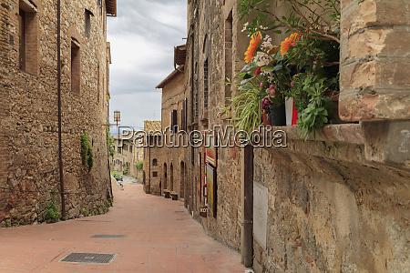 italien monteriggioni enge strassen der stadt