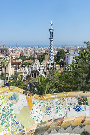 spain barcelona park guell large format