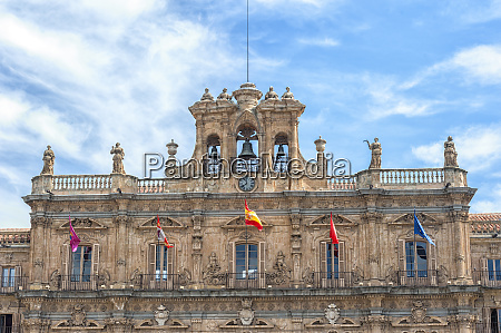 europe spain salamanca town hall bell