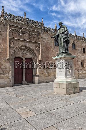 europe spain salamanca statue of frei