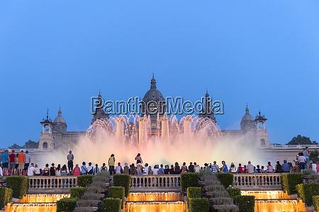 europe spain barcelona national palace and