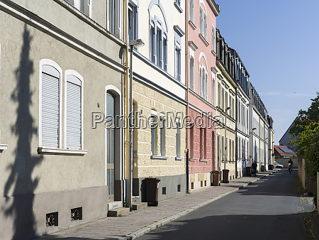 row of houses in the old