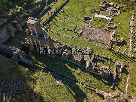spectacular aerial view of the old