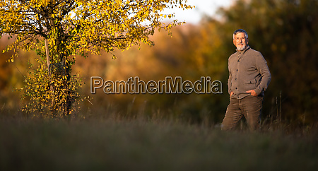 portrait of handsome senior man in