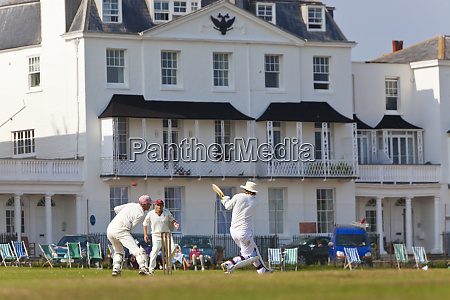 cricket match sidmouth devon grossbritannien
