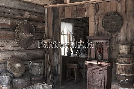 canada british columbia barkerville interior cabin