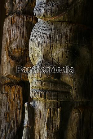 canada british columbia gitanyow detail of