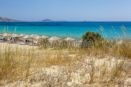 beach in naxos island greece
