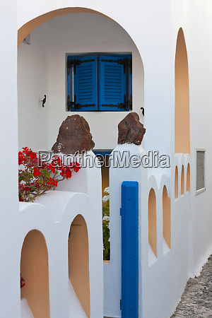 houses on the coast of aegean