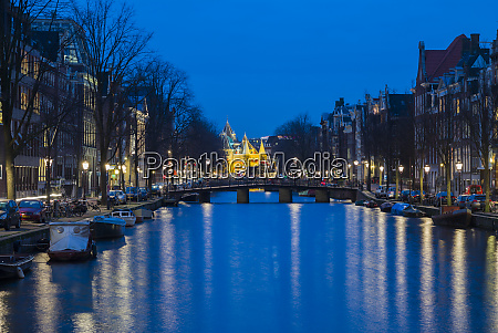 netherlands amsterdam kloveniersburgwal canal and the