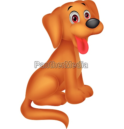 netter hund cartoon