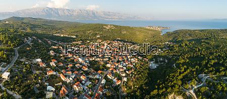 panoramablick auf das stadtbild von selce