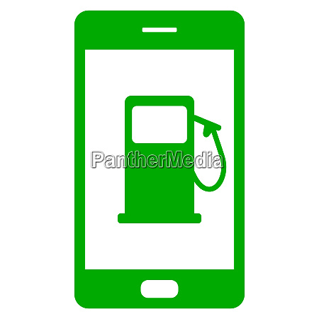 tankstelle und smartphone