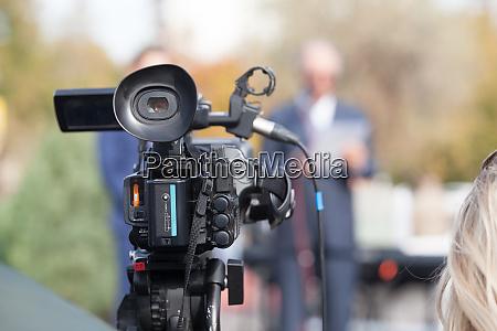 filmen von medien event mit einer
