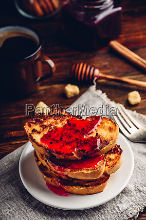 stack, of, french, toasts, with, berry - 27935727